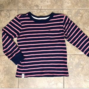 5/$25 Carter's size 5 pink and blue striped shirt